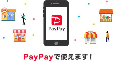 PayPayでも使えます!