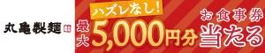 【はずれなし】丸亀製麺のお食事優待券が当たるキャンペーン