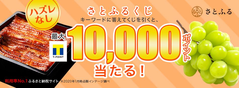 Tポイントが最大10,000ポイント当たるチャンス