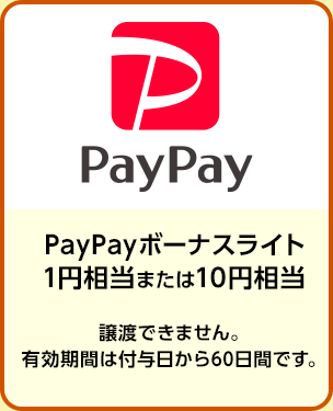 PayPayボーナスライト 1円相当または10円相当/期間:2019年9月1日~9月30日