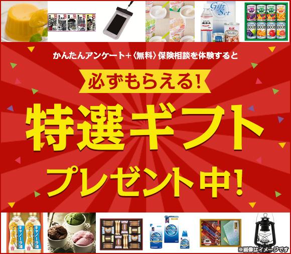 アンケート+無料相談で必ずもらえる! 特選ギフトプレゼント...