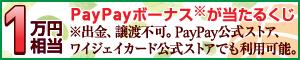 最大10,000円相当PayPayボーナスが当たるくじ!