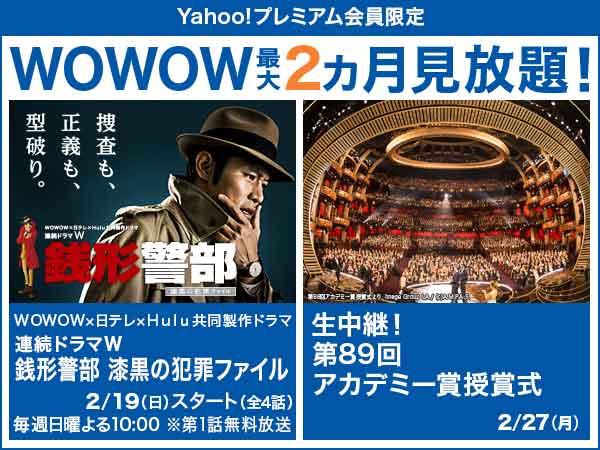 WOWOW最大2カ月無料 2月は生中継! 第89回アカデミー賞授賞式