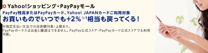 Yahoo!ショッピングのお買いものでいつでも+2%相当も戻ってくる!