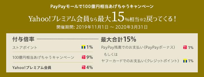 PayPayモールで100億円相当あげちゃうキャンペーン