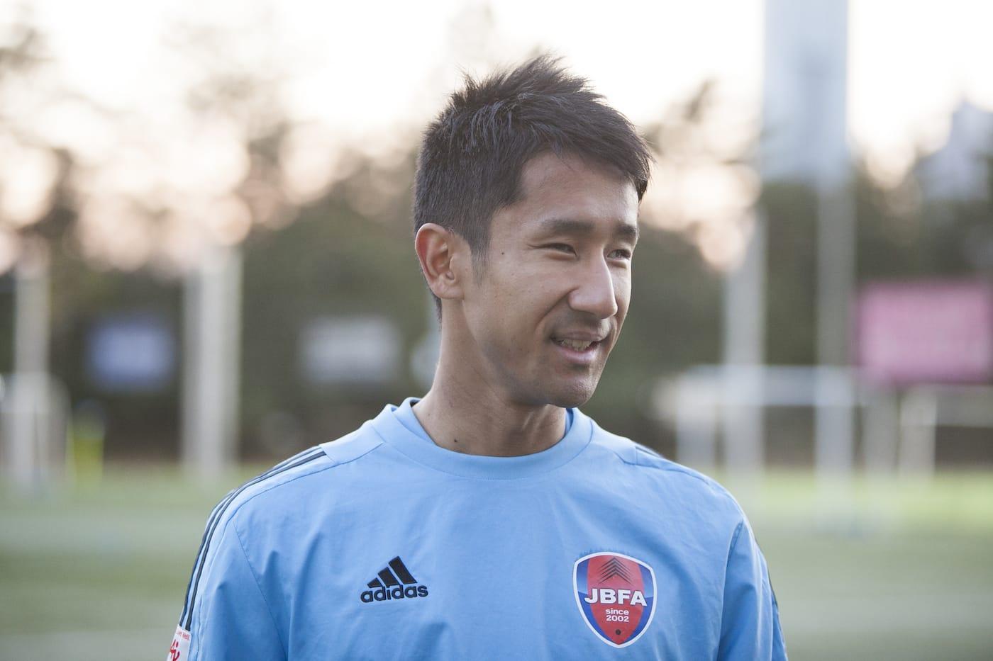 インタビューに応える川村選手