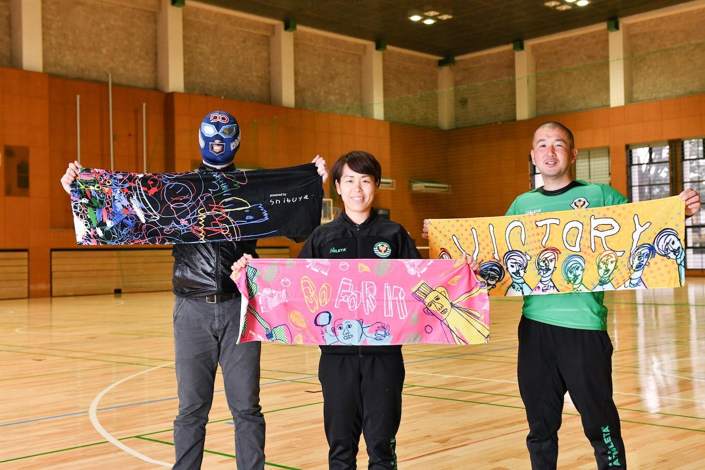 DOマンと岩清水選手と中村さん