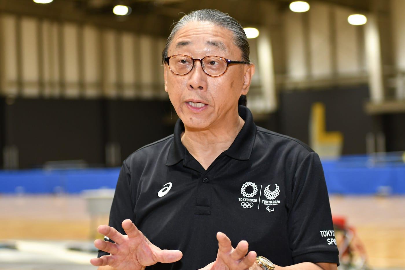 日本車いすフェンシング協会会長、小松眞一さん