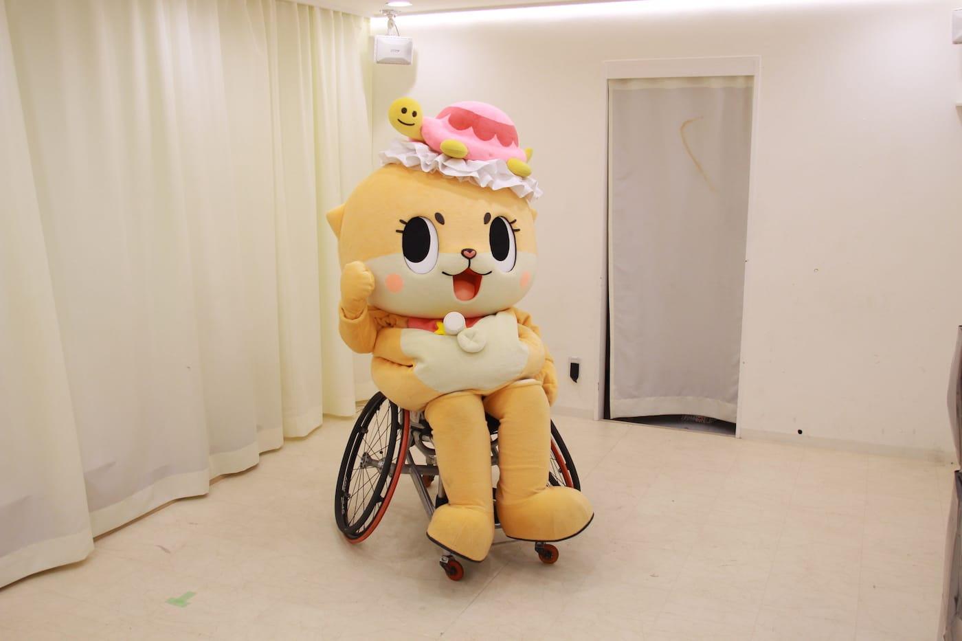 車いすに乗るちぃたん☆
