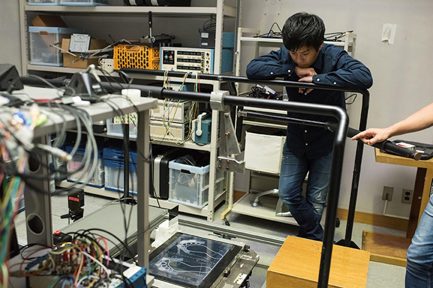河島氏が開発している器具