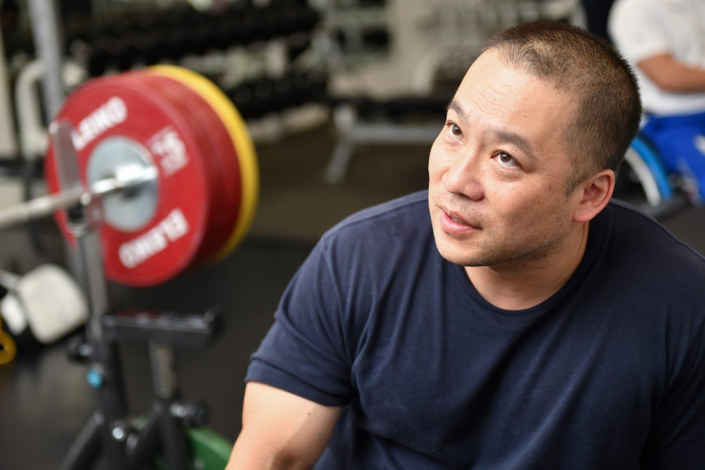 インタビューに答える樋口健太郎選手