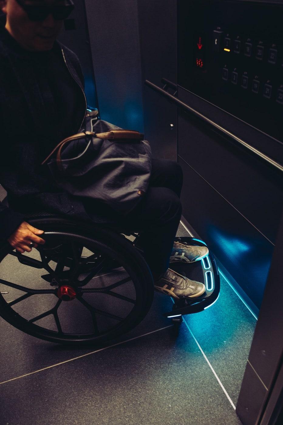 車いすに乗る宇多丸さん