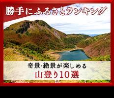 勝手にふるさとランキング 奇景・絶景が楽しめる 山登り10選