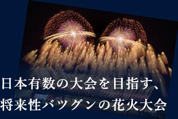 日本有数の大会を目指す、将来性バツグンの花火大会