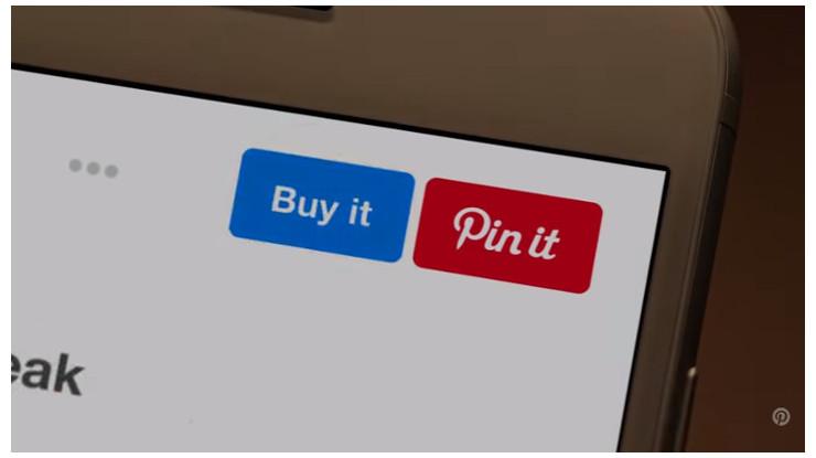 Pinterestの画面にも購入ボタンが設置されている。