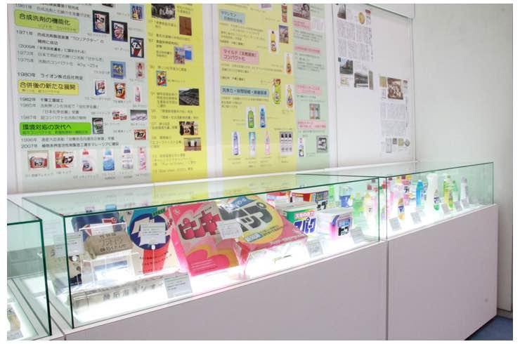 ライオン株式会社本社商品展示コーナー(洗剤)