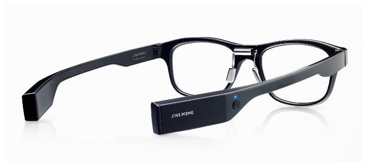 JINS MEMEの本体。つるの部分に「3点式眼電位センサー」が装着されている。