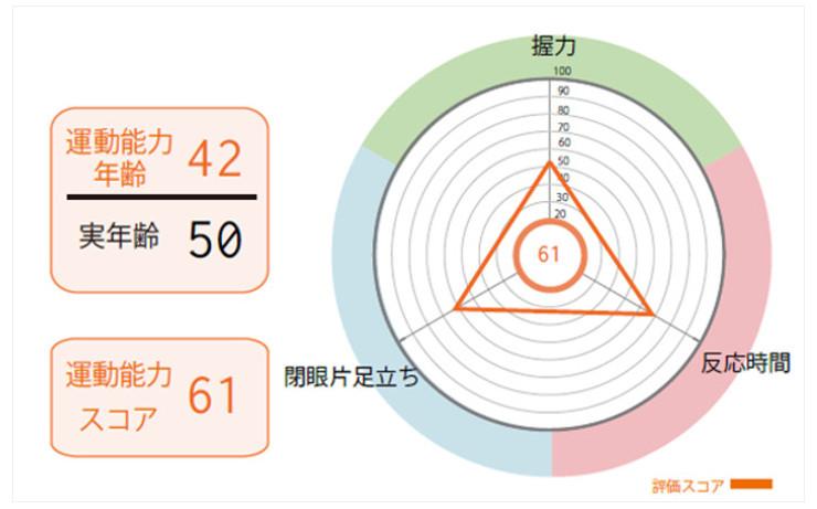 16項目の測定結果を入力し、ボディスコアを算出する。