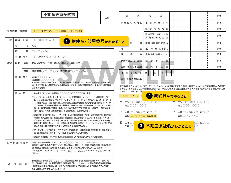 売買契約書サンプル