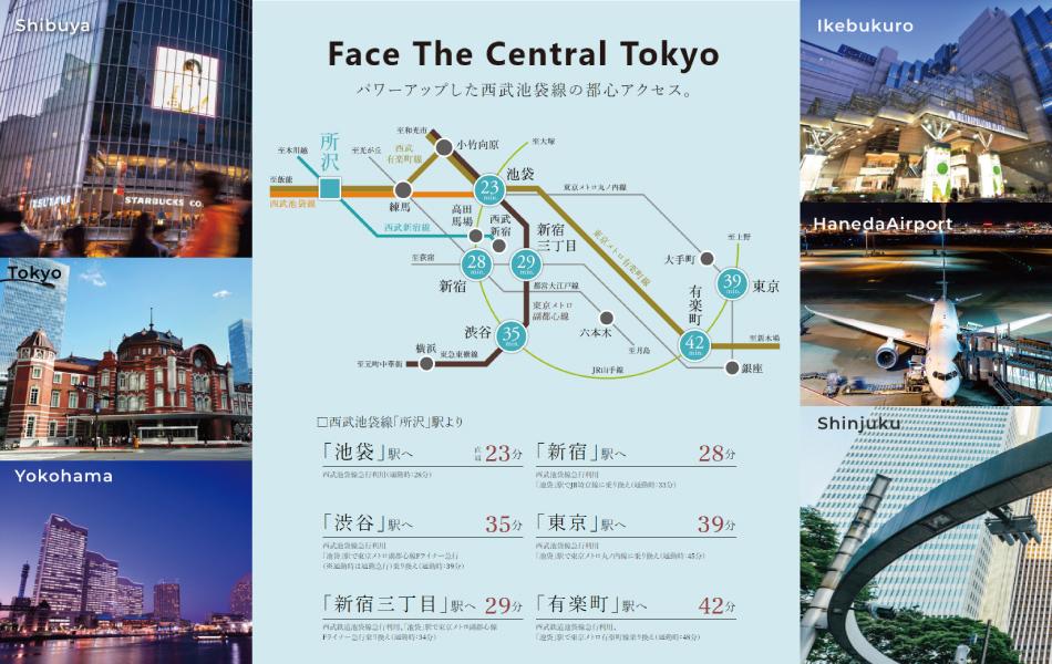 ※掲載の写真はすべてイメージです。※所要時間には乗り換え、待ち時間は含まれておりません。時間帯により所要時間が異なりますので、予めご了承ください。東京時刻表2018年11月号にて算出し、日中平常時は平日10時~14時発、通勤時は7時~9時発の、目的駅に到着する最短所要時間を表記しています。※掲載の通勤時シミュレーションは目的地に8時45分着とし、「ジョルダン乗換案内」に基づいて作成しています。(2019年5月現在)※掲載の終電シミュレーションは「ジョルダン乗換案内」に基づいて作成しています。(2019年5月現在)※1:出典:国土交通省関東地方整備局HP「首都圏3環状道路」より(2019年3月17日時点)
