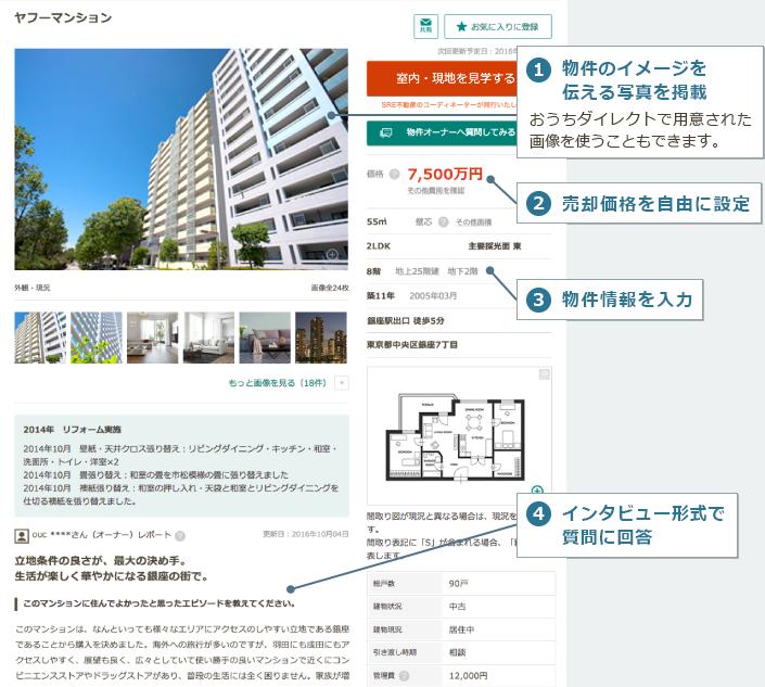 物件PRの画面イメージ