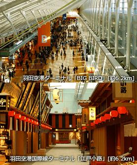 羽田空港ターミナル「BIG BIRD」 羽田空港国際線ターミナル「江戸小路」