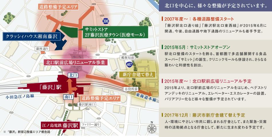 北口を中心に、様々な整備が予定されています。