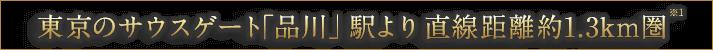 東京のサウスゲート「品川」駅より直線距離約1.3km圏※1