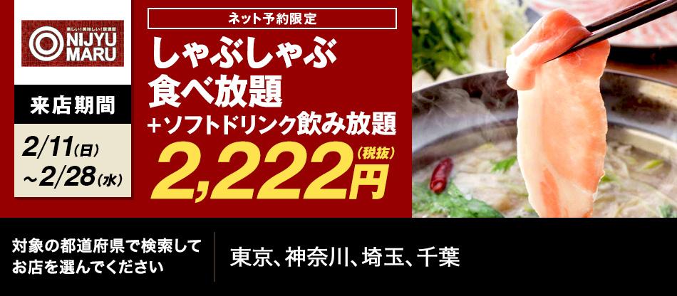ゾロ目NIJYU-MARU2222円