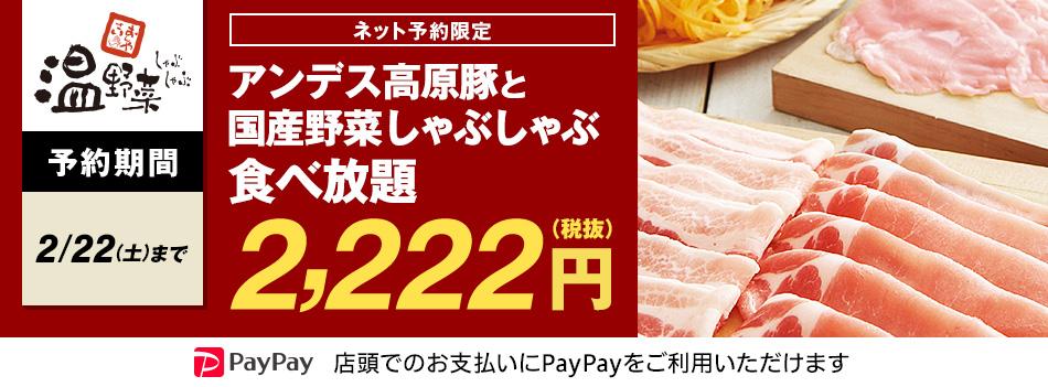 ゾロ目温野菜2222円