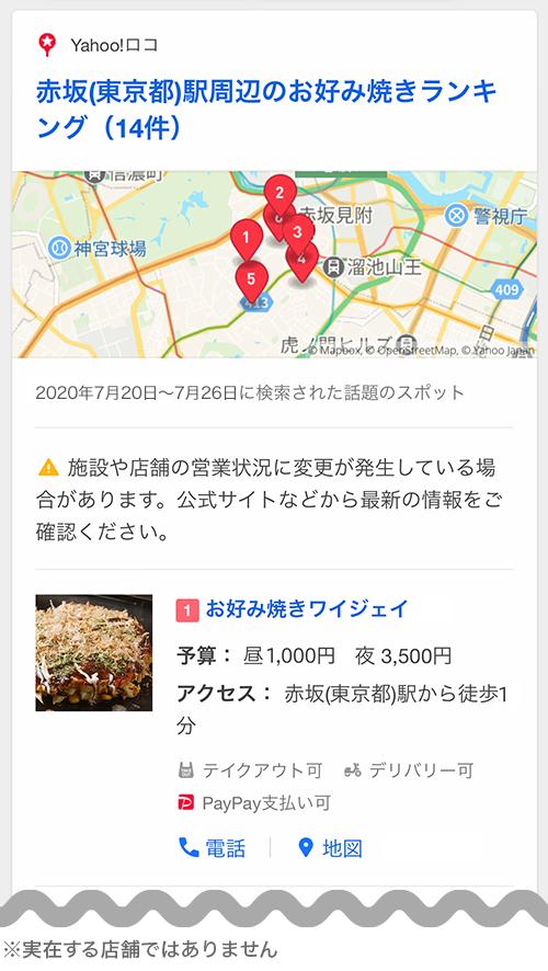赤坂(東京都)駅周辺のお好み焼きランキング
