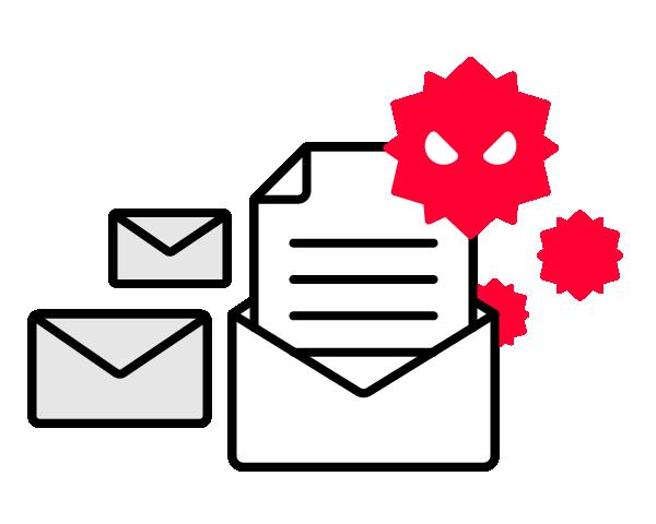 メールにウイルスを添付する手法は未だに攻撃者の常套手段です