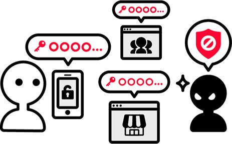 攻撃者は複数のウェブサイトでパスワードを使いまわすユーザーを狙っています。
