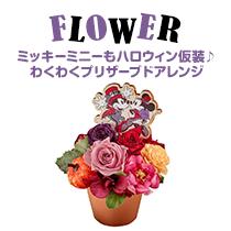 FLOWER ミッキーミニーもハロウィン仮装♪ わくわくプリザーブドアレンジ