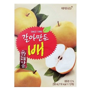 ヘテ すりおろし梨ジュース 238ml BOX (12本入)