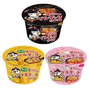 カップ ブルダック炒め麺 シリーズ 3個セット 【チーズ 1個 カルボ 1個 オリジナル 1個】