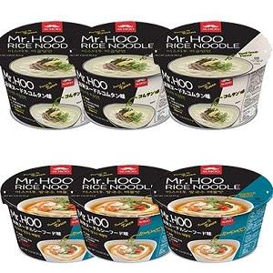 Mr.Hooお米ヌードル(シーフード味)3個/ お米ヌードル(コムタン味)3個