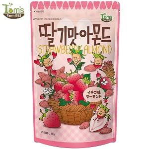 イチゴ味アーモンド 210g 1個 ハニーバター アーモンド 韓国 お菓子 おかし カロリー TOMS