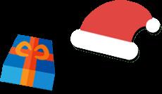 サンタがプレゼントとメッセージを届けます