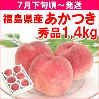 福島県飯坂町産「あかつき」秀品1,4kg