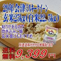 会津産 ミルキークイーン 玄米