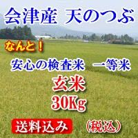 会津産天のつぶ 玄米30kg