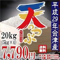 天のつぶ 白米 20kg