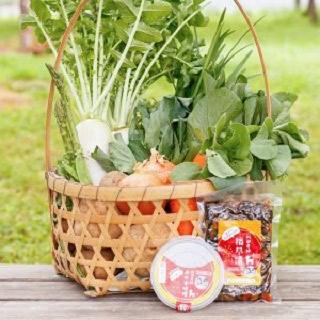 朝採り野菜 7種類ととっておき無添加の味噌と漬物のセット