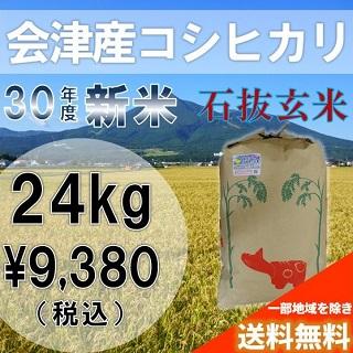 平成30年度 新米 会津産コシヒカリ