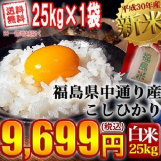 平成30年度 新米 福島県産コシヒカリ