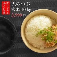 福島県産 天のつぶ 玄米10kg