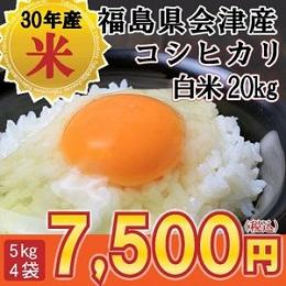 会津産 コシヒカリ 白米20kg
