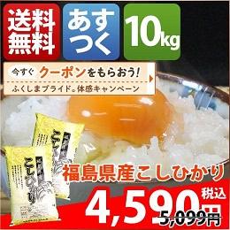 福島県産コシヒカリ 5kg×2袋