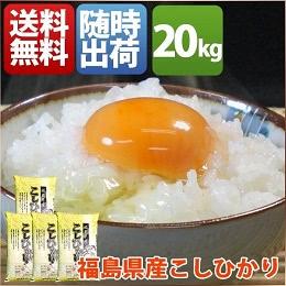 福島県産 コシヒカリ 20kg